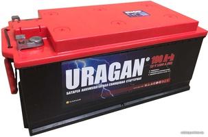 Грузовой аккумулятор URAGAN 190 R+ под болт, корпус CAMINA с бортами