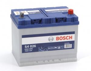 Аккумулятор автомобильный Bosch S4 Asia Silver 70 JR