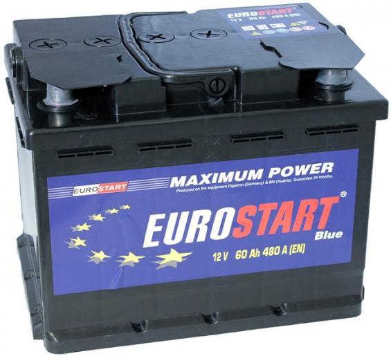 Аккумулятор автомобильный 55 Eurostart Blue