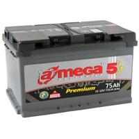 Аккумулятор автомобильный A-mega Premium 75 R Low