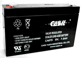 Аккумулятор для мотоциклов Casil  6V-7.5 Ah