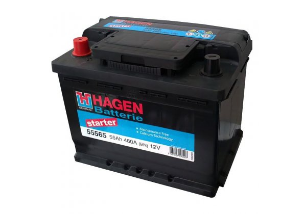 Аккумулятор автомобильный 55 HAGEN