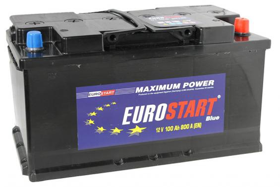 Аккумулятор автомобильный 100 Eurostart Blue