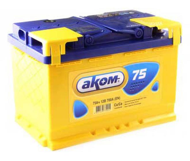 Аккумулятор автомобильный АКОМ 6СТ-75 +EFB
