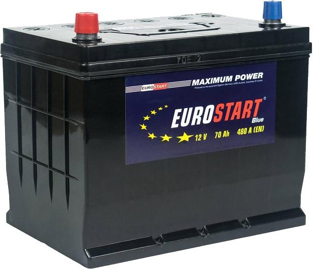 Аккумулятор автомобильный 70 Аh Eurostart Blue Asia L+