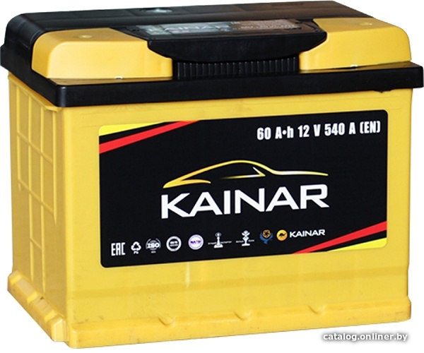 Аккумулятор автомобильный Kainar 60 R+