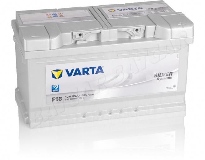 Аккумулятор автомобильный 85 VARTA SILVER DYNAMIK