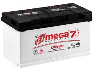 Аккумулятор автомобильный A-mega Ultra+ 110 R