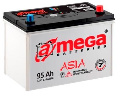 Аккумулятор автомобильный A-mega Asia 95 JL