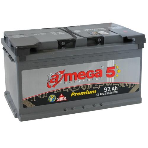 Аккумулятор автомобильный A-mega Premium 92 R new