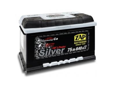Аккумулятор автомобильный 75 Ah-575 25 ZAP SILVER /о.п./