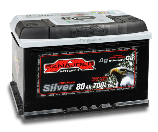 Аккумулятор автомобильный Sznajder Silver [magic eye] 80 R