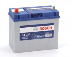 Аккумулятор автомобильный Bosch S4 Asia Silver 45 JL тонк.клеммы