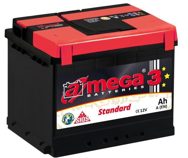 Аккумулятор автомобильный A-mega Standard 62 R