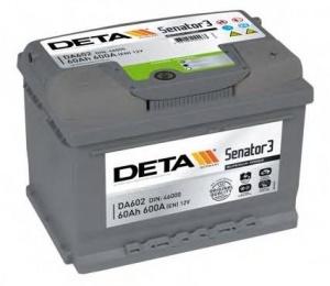 Аккумулятор автомобильный Deta Senator3 60 R