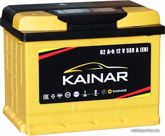 Аккумулятор автомобильный Kainar 62 R+