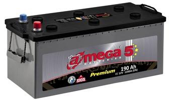Грузовой аккумулятор A-mega Premium 190