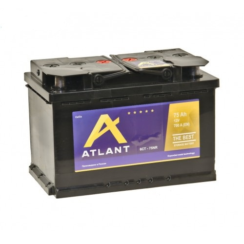 Аккумулятор автомобильный 75 Аh ATLANT