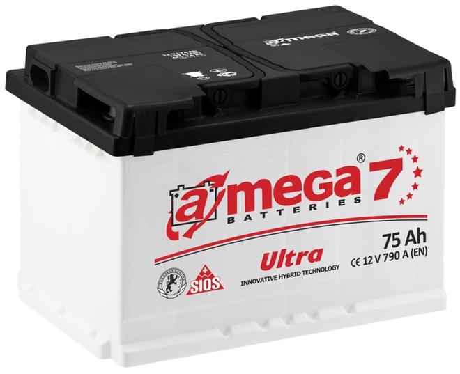 Аккумулятор автомобильный A-mega Ultra 75 L