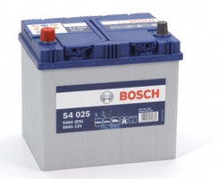 Аккумулятор автомобильный Bosch S4 Asia Silver 60 JL