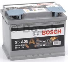 Аккумулятор автомобильный Bosch S5 60 R AGM