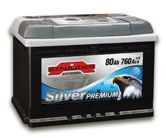 Аккумулятор автомобильный Sznajder Silver Premium [magic eye] 80 R