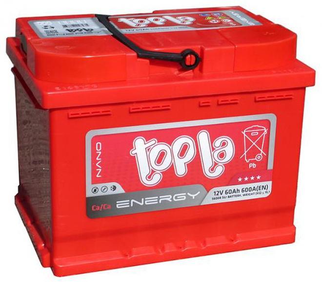 Аккумулятор автомобильный 60 TOPLA Energy L+