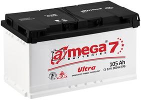Аккумулятор автомобильный A-mega Ultra 105 R