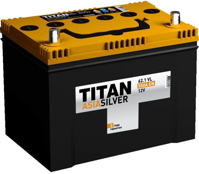 Аккумулятор автомобильный TITAN Asia Silver 62 JR