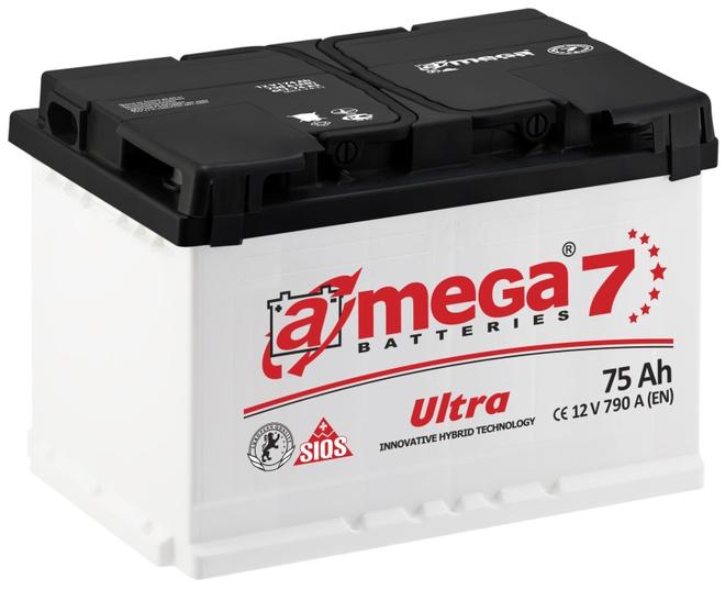 Аккумулятор автомобильный A-mega Ultra 75 R