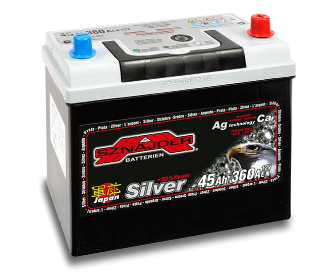 Аккумулятор автомобильный Sznajder Silver Japan [magic eye] 45 JR