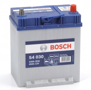 Аккумулятор автомобильный Bosch S4 Asia Silver 40 JR с бортом