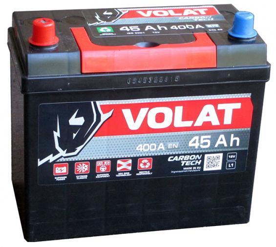 Аккумулятор автомобильный 45 Аh VOLAT JAPAN L