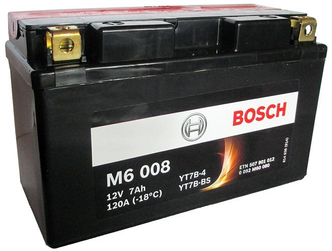 Аккумулятор для мотоциклов Bosch YT7B-BS 7Ah
