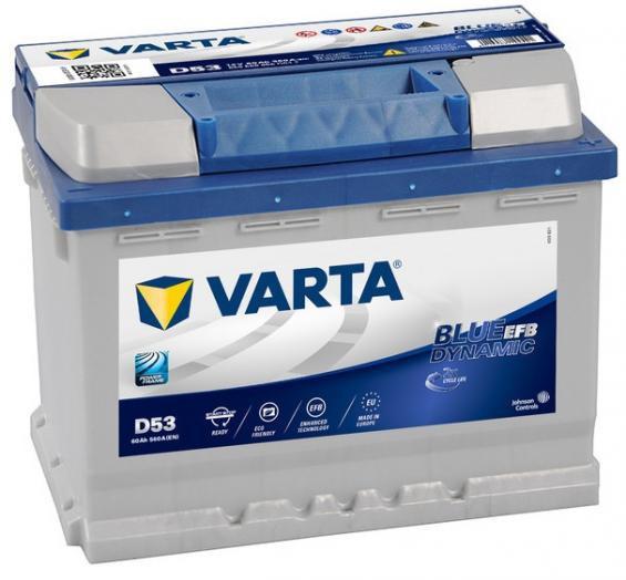 Аккумулятор автомобильный 60 VARTA BLUE DYNAMIK EFB