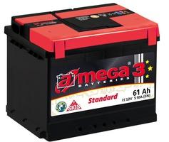 Аккумулятор автомобильный A-mega Standard 61 R low
