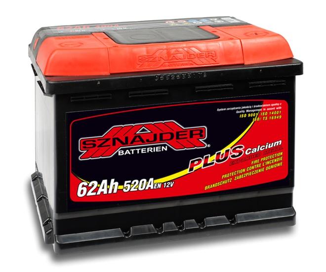 Аккумулятор автомобильный Sznajder Plus 62 R