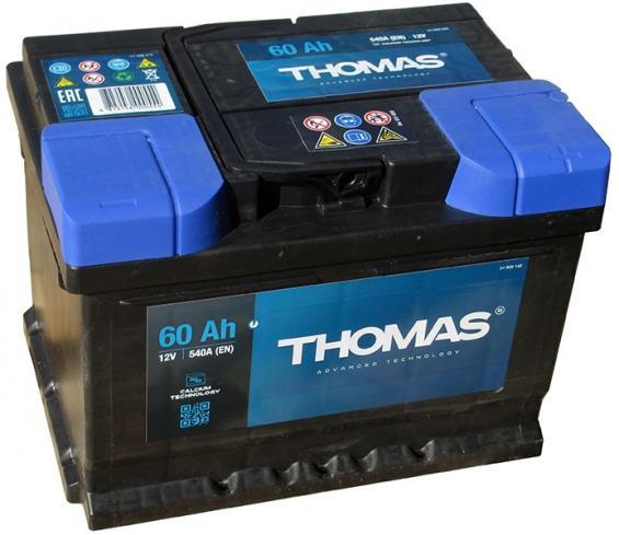 Аккумулятор автомобильный 60 Ah THOMAS низкий