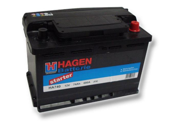 Аккумулятор автомобильный 74 HAGEN