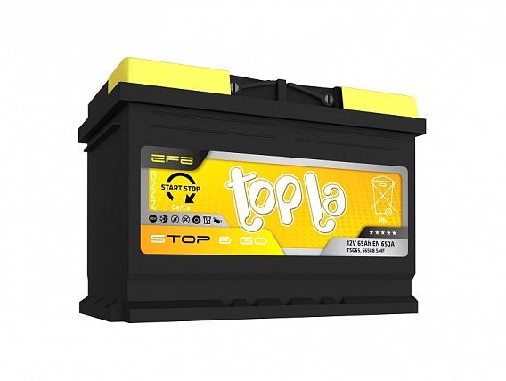 Аккумулятор автомобильный 65 Topla EFB STOP&GO