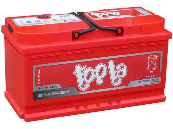Аккумулятор автомобильный 100  TOPLA Energy короткая R+