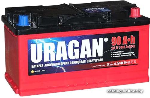 Аккумулятор автомобильный URAGAN 90 R+