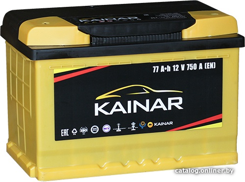 Аккумулятор автомобильный Kainar 77 L+
