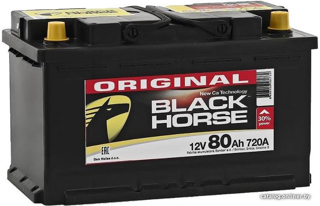 Аккумулятор автомобильный Black Horse 80 R