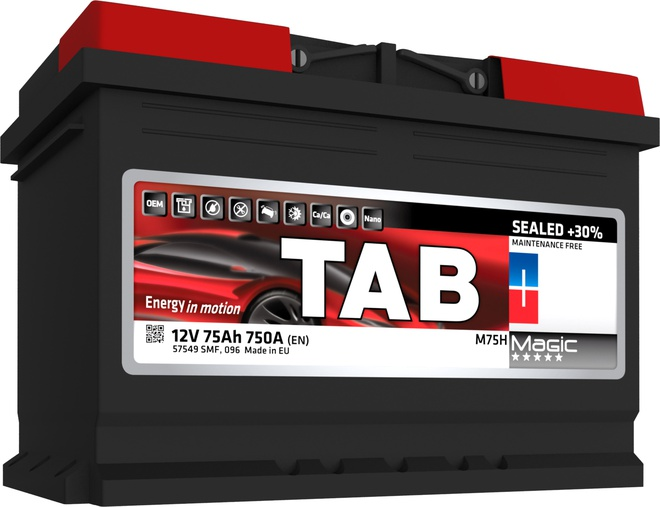 Аккумулятор автомобильный Tab Magic 75 R