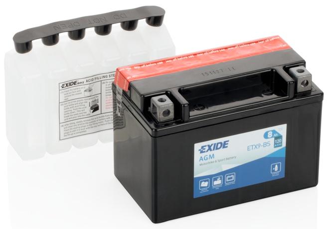 Аккумулятор для мотоциклов Exide AGM 8 Ah