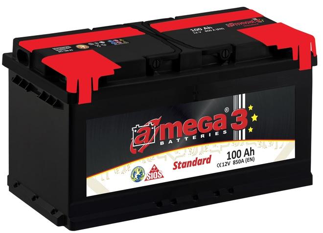 Аккумулятор автомобильный A-mega Standard 100 R