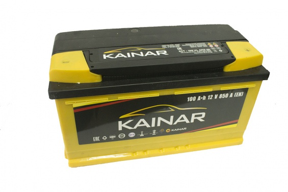 Аккумулятор автомобильный Kainar 100 R+