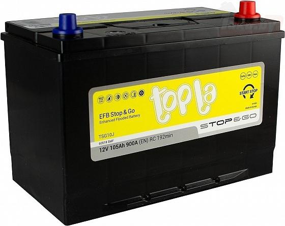 Аккумулятор автомобильный 105 Topla EFB STOP&GO Asia