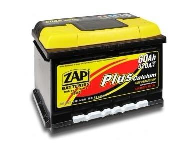 Аккумулятор автомобильный 62 Ah  ZAP PLUS низкий